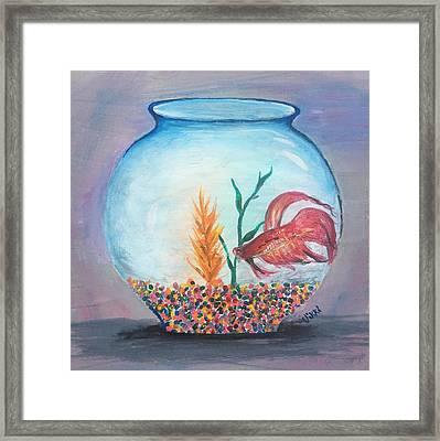 Fish Bowl Framed Print