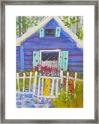 Fish Camp Cottage Framed Print