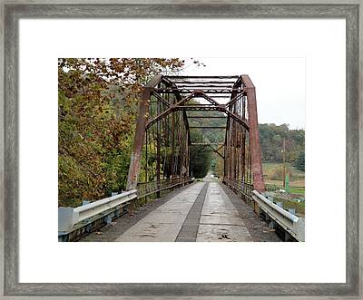 Fish Creek Bridge Framed Print by Terry  Wiley