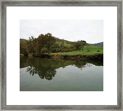Fish Creek Reflection Framed Print by Terry  Wiley