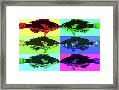 Framed Print featuring the digital art Fish Dinner Pop Art by Nancy Merkle