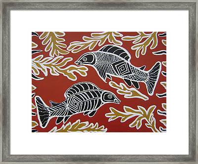 Fish Dreamin Framed Print by Laura Johnson