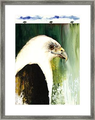 Fish Eagle Framed Print by Anthony Burks Sr