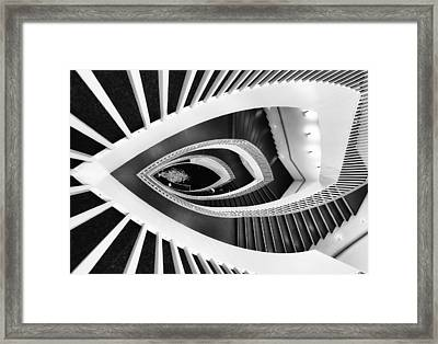 Fish-eye Abstract Staircase Framed Print by Elena Kovalevich