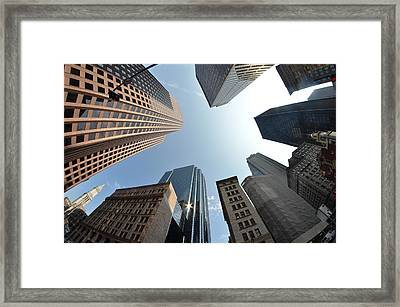 Fish-eye Lens Of Building Framed Print by Robin Houde photography