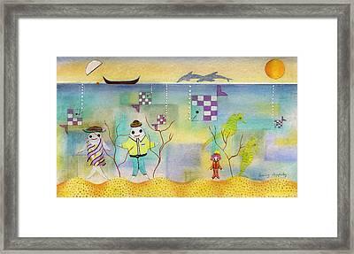 Fish Family Framed Print by Sally Appleby