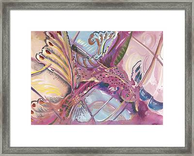 Fish Feathers Framed Print