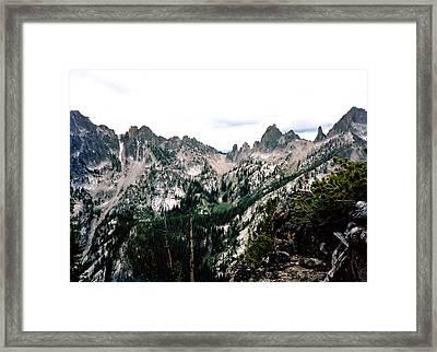 Fish Fin Ridge Photograph Framed Print
