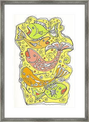 Fish Fish Framed Print by Linda Kay Thomas