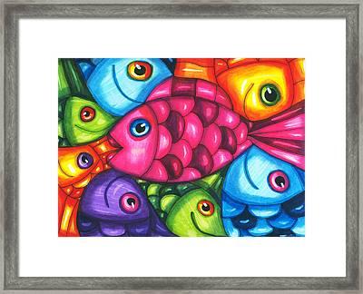 Fish Friends Framed Print