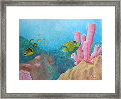 Fish Garden Framed Print