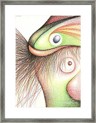 Fish Head Framed Print by Cristophers Dream Artistry