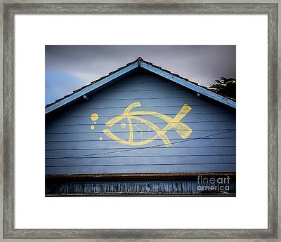 Framed Print featuring the photograph Fish House by Perry Webster