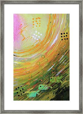 Fish In A Green Sea Framed Print