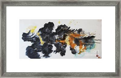 Fish In Stream 12030015fy Framed Print