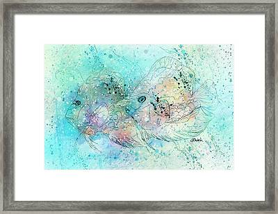 Fish In Tropical Colors Framed Print