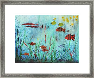 Fish In Water Framed Print by Suzanne  Marie Leclair