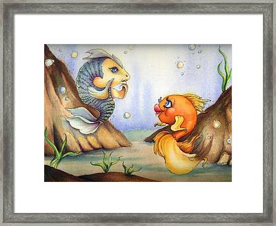 Fish Love Framed Print by Hank Nunes