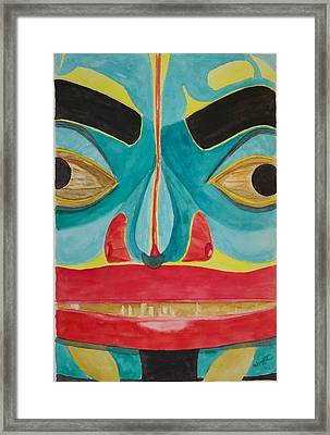 Fish Man Framed Print by Larry Wright