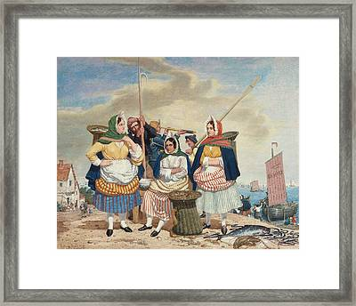 Fish Market By The Sea Framed Print by Richard Dadd