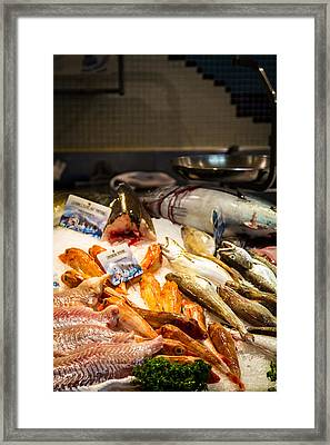 Framed Print featuring the photograph Fish Market by Jason Smith
