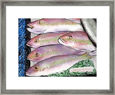 Fish Market Framed Print
