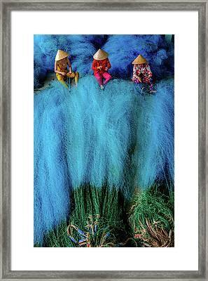Fish-net-worker Framed Print by Okan YILMAZ