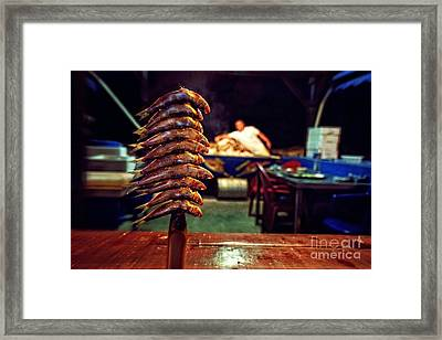 Fish On A Stick - East Malaga Framed Print by Mary Machare