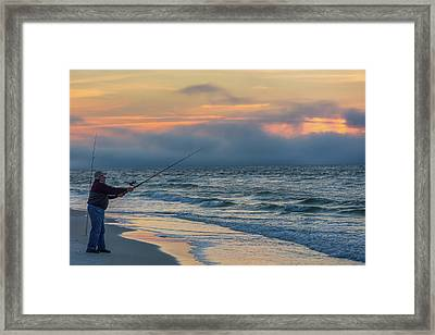 Framed Print featuring the photograph Fish On In Alabama  by John McGraw