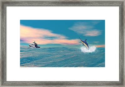 Fish On Framed Print by Walter Colvin