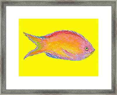 Fish Painting Framed Print by Jan Matson