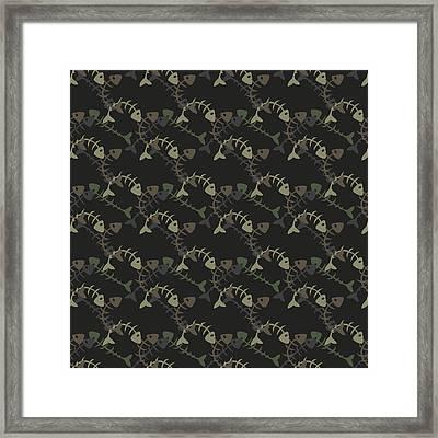 Fish Pattern  Framed Print by Mark Ashkenazi