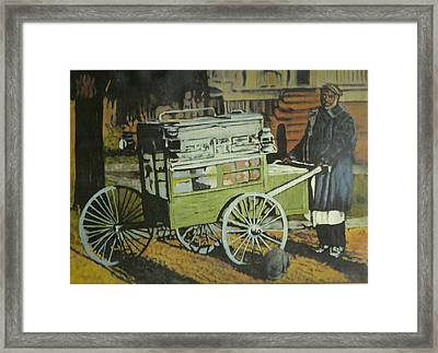 Fish Peddler Framed Print by Perry Ashe