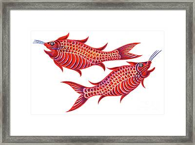 Fish Pisces Framed Print by Jane Tattersfield