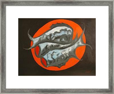 Fish Platter Framed Print