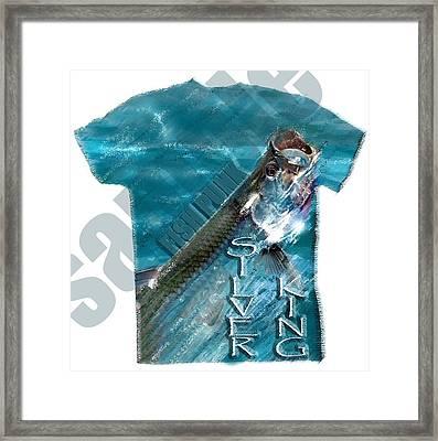 Fish Punk Tarpon Design Framed Print