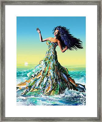 Fish Queen Framed Print
