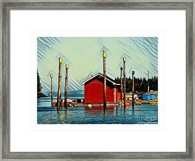 Fish Shack, Campobello Framed Print