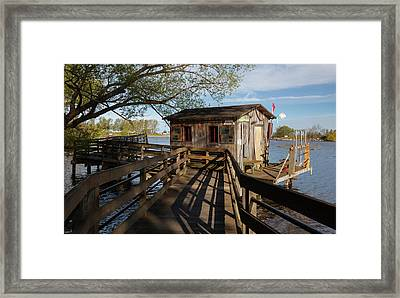 Framed Print featuring the photograph Fish Shack by Fran Riley