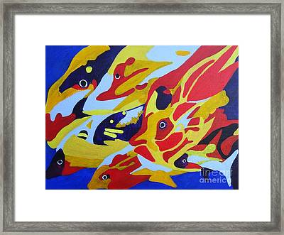 Fish Shoal Abstract 2 Framed Print