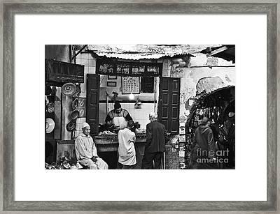 Fish Shop Framed Print