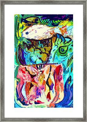 Fish Soup Framed Print by Mindy Newman