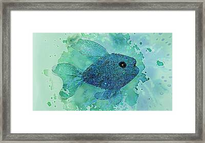Fish Splash  Framed Print