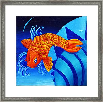 Fish Splash Framed Print by Stephen Humphries