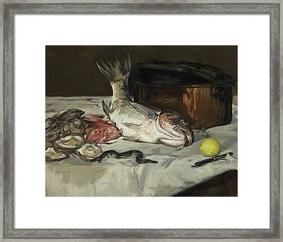 Fish Still Life Framed Print by Edouard Manet