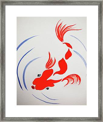 Fish Swish Framed Print
