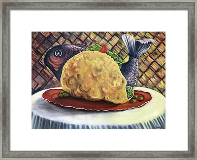 Fish Taco Framed Print