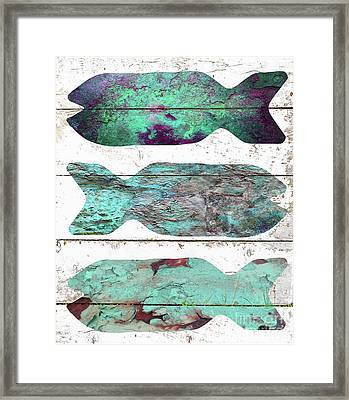 Fish Tales I Framed Print by Mindy Sommers