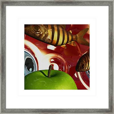 Fish Tripping Framed Print by Richard Rizzo