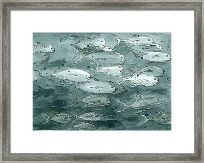 Fish Values Framed Print by Cathie Richardson